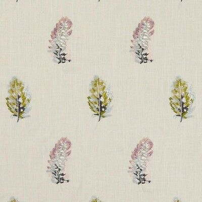 Clarke and Clarke - Plumis - Multi Gilver - Large Fabric Remnant - 100cm x 128cm