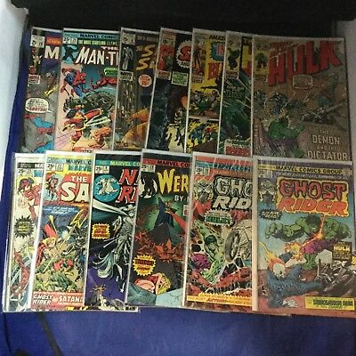 Marvel Comics Assorted Bronze Age Lot of 13 Issues - Spider-Man Ghost Rider Hulk