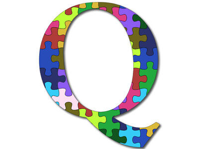 4x4 inch Q Shaped PUZZLE PIECES Sticker (qanon trump anon wwg1wga awakening)