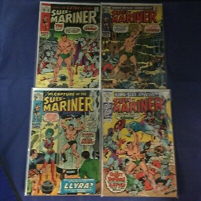 Marvel Comics Sub-Mariner Bronze Age Lot of 4 Issues w/ King Size Special!