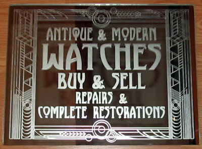 Antique & Modern Art Deco Watches Buy Sell Restorations Repairs Mirror Sign