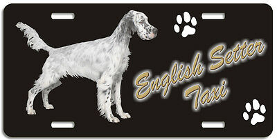 English Setter grey Taxi Line License Plate (( LOW CLEARANCE PRICE ))