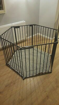 38819325a BABYDAN PARK-A-KID PLAYPEN  Room Divider with play mat and wall ...