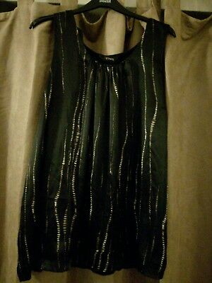 Ladies Yours Long Black Silky Print Tunic Top Womens Uk Plus Size 22-24