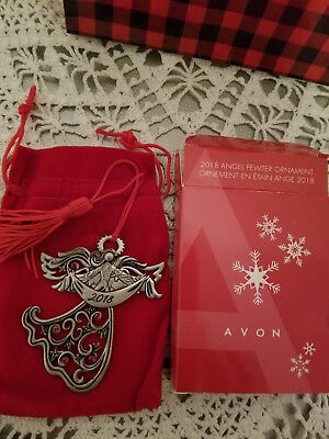 Avon 2018 Pewter Christmas Ornament (Angel) Collectible Very HTF