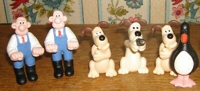 6 Wallace & Gromit Figures 2 Wallace 3 Gromit 1 Feathers Mcgraw Penguin 1989