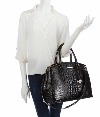 33bd90322 NWT Brahmin Audra Leather Business Tote/ XL Work Bag in Black Melbourne