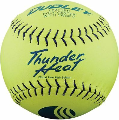 """Dudley 11"""" Thunder Heat USSSA Leather Slowpitch Softball"""