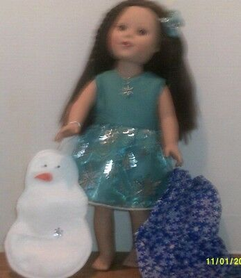"Doll Clothes-fits 18"" American Girl My Life-Holiday-Decoration-Lot-Gift Set BD"