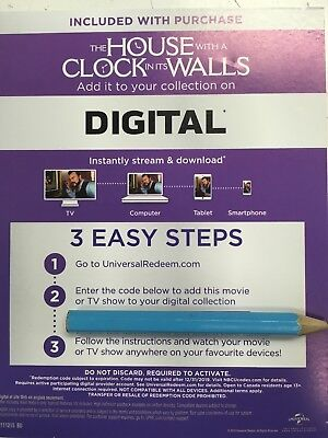 the house with a clock in its walls Canadian Digital Code Only