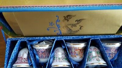 Collection of Christmas bells St Petersburg imperial porcelain