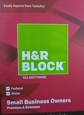 H&R Block Tax Software 2018 Premium and Business CD or Download