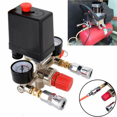 Manifold Air Compressor Pressure Control Switch Regulator Gauges Gauges Relief