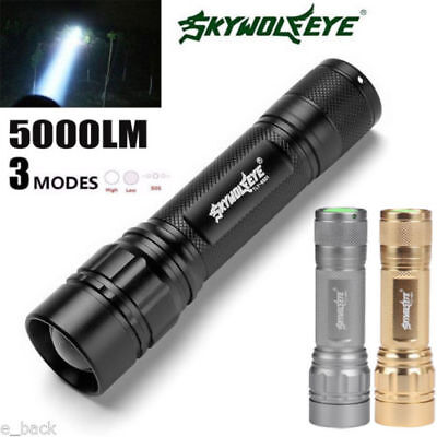 Zoomable 5000 LM 3 Modes Flashlight XML XPE LED Torch Lamp Powerful 18650 Focus