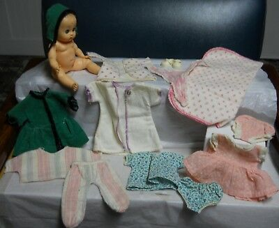Vintage 1950's Vogue Ginnette doll nice some orig clothes some handmade