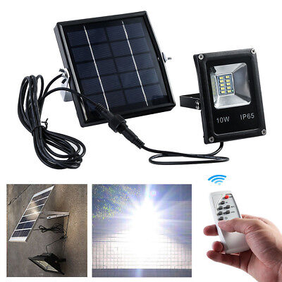 LED Security Waterproof Solar Powred Wall Lamp Remote Control Flood Light