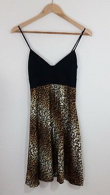Be Cool Short Black Animal Print Dress Sleeveless Size Small Cocktail Party 60960337b