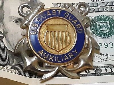 US Coast Guard Auxiliary HAT pin. Screwback Style