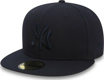 New Era New York Yankees League Essential Navy MLB Cap 59fifty 5950 Fitted Men's
