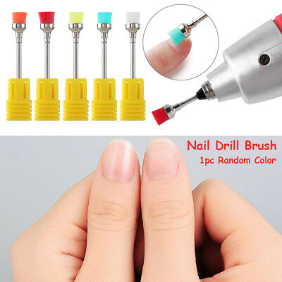 Nail Art Drill Bit Cleaning Brush Electric Machine Files Remover Manicure Tools