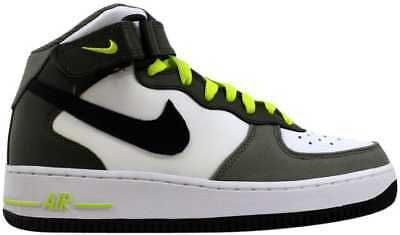 cheaper 8c93f 7ec44 Nike Air Force 1 Mid White Black-Cargo Khaki-Green 314195-103