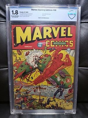 Marvel Mystery Comics #40 CBCS 1.8 Timely Classic Schomburg WW2 Cover