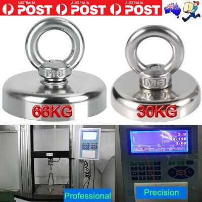 66KG Recovery Magnet Hook Strong Sea Fishing Diving Treasure Hunting Flying Ring