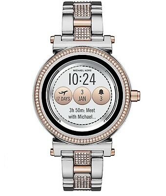 a85d27cf9054 New Michael Kors Access Woman s Smartwatch Sofie Two-Tone Stainless Steel  Sealed