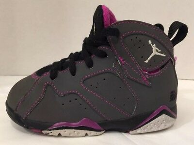 908b8556775 Air Jordan 7 Vii Retro Toddler Shoes Size 8C Fuchsia Valentines 705418-016  Nike