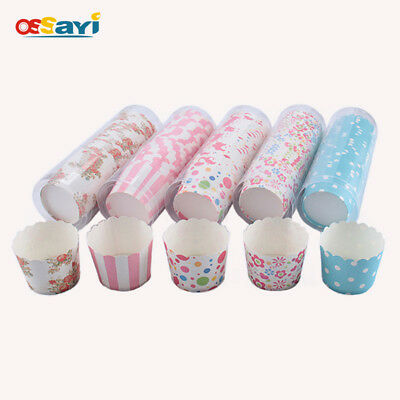 25Pcs/set Round Paper Cupcake Cup Muffin Cup Mold Kitchen Baking Tools