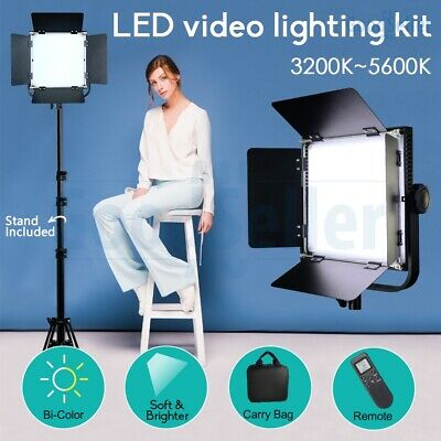 2 Pack Dimmable Bi-color LED Video Light & Stand Photography Studio Lighting Kit