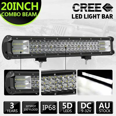 20''inch 126W CREE LED Light Bar Flood Spot Combo 12V 24V 4X4 Work Driving Light