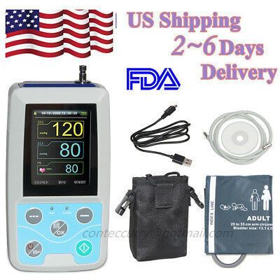 CONTEC Ambulatory Blood Pressure Monitor ABPM50 24h NIBP Holter +Software CE&FDA