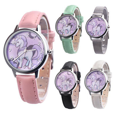 Cute Unicorn Watch Girls Boys Candy Color Children Kids Watches Trendy Classical