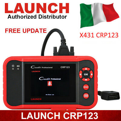 LAUNCH X431 CRP123 OBD2 II diagnosi auto Scanner Professionale ABS SRS EPB Reset