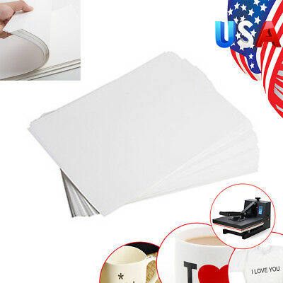 A4 Dye Sublimation Heat Transfer Paper F/ Mug Cup Plate Polyester Cotton T-Shirt