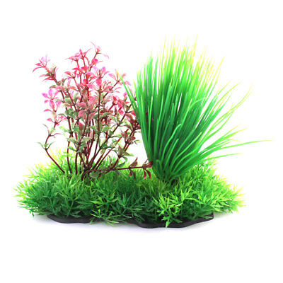 Aquarium Fish Tank Aquatic Plastic Emulational Plant Grass Lawn Ornament Decor
