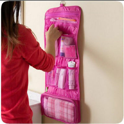 Foldable Travel Hanging Wash Bag Toiletry Organzier Bathroom Make Up Case Pouch