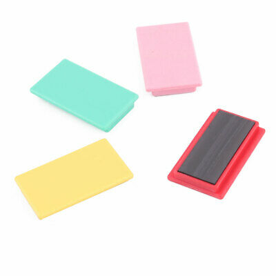 School Office Magnetic Stripes Fixed Paper Assorted Color 5.1 x 3 x 0.8cm 4pcs