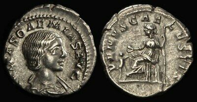 ANCIENT ROMAN Julia Soaemias daughter of Julia Maesa died 222AD AR Denarius