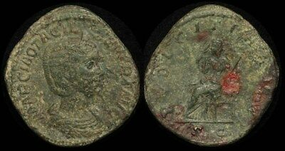 ANCIENT ROMAN Otacilia Severa wife of Philip I 244-249AD AE Sestertius . S-9169
