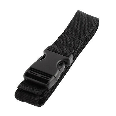 Travel Side Release Buckle Bag Luggage Strap Suitcase Belt Black 1M Length Black