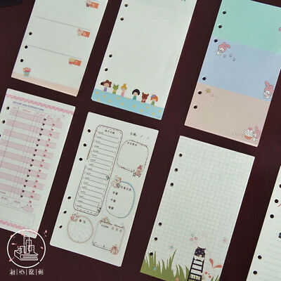 A5/A6 Cartoon Colourful Planner Diary Insert Refill NoteBook Schedule Organiser