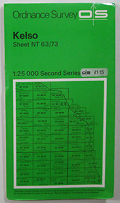 1978 old vintage OS Ordnance Survey Second Series 1:25000 map Kelso NT 63/73