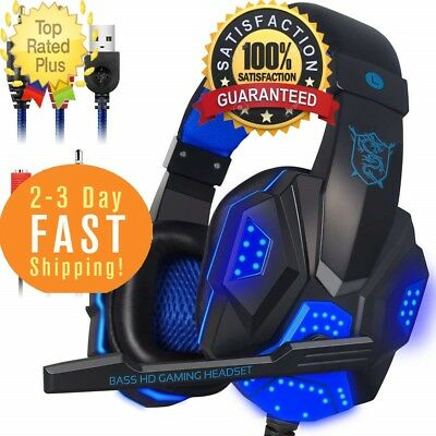 Gaming Headphones Bluetooth Best Wireless PC Laptop PS4 XBox One Headset LED 1PK