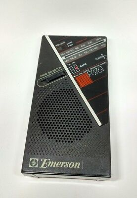Vintage Emerson P3761 Fm/am Super Sensitive Portable Radio - Tested And Working
