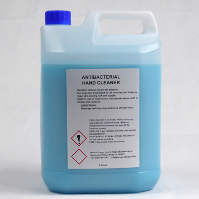 Blue Antibacterial Hand Soap - 5L PLUS Pelican Pump