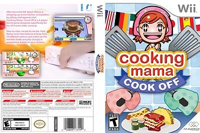 Nintendo Wii Replacement Game Case and Cover Cooking Mama