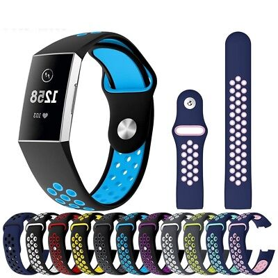 For Fitbit Charge 3 Strap Silicone Sports Replacement Band