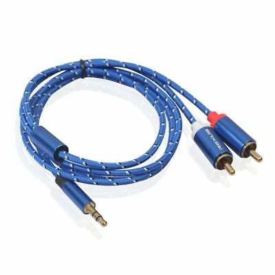 3.5mm to 2RCA Audio Cable AUX RCA Jack DJ Amplifiers Subwoofer Theater Mixer DVD